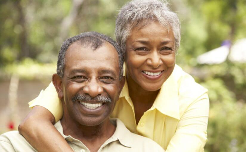 Afrikan American Couple with Professional Dental Implants