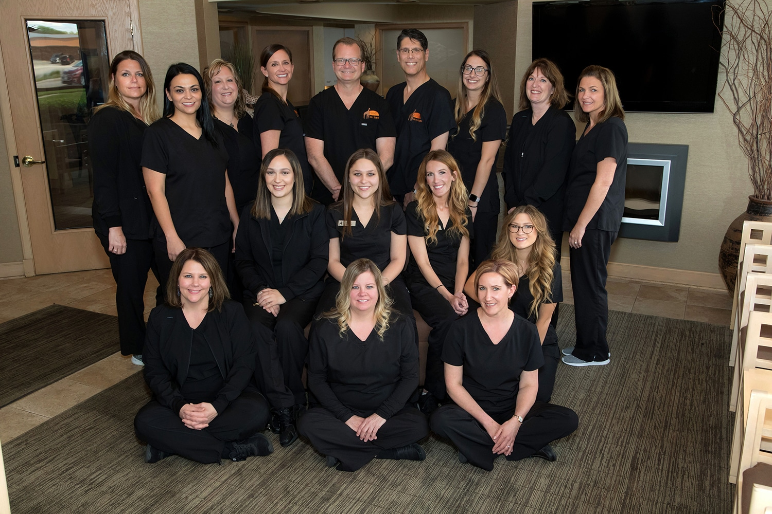 Clinical Support Team with the Dentist at Joliet Family Dental Care
